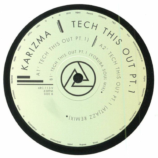 Karizma ‎– Tech This Out Part 1 - Atjazz Record Company ‎– ARC113V