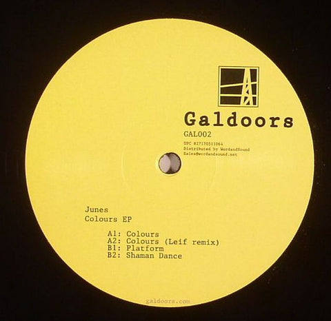 Junes - Colours EP - Galdoors ‎– GAL002
