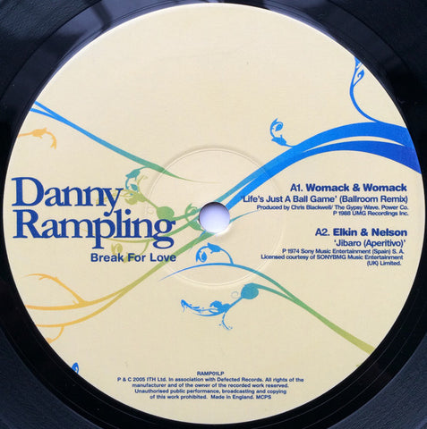 Danny Rampling - Break For Love - ITH Records ‎– RAMP01LP1