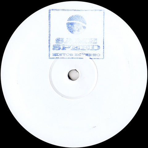 "Various ‎– Same Speed Edits 12"" Same Speed Edits ‎– SASP 001"