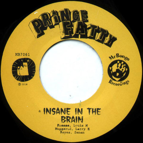 Prince Fatty ‎– Insane In The Brain - Mr Bongo ‎– MB7061