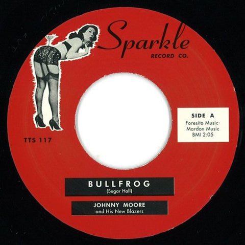 Johnny Moore And His New Blazers - Bullfrog - Sparkle Record Co ‎– TTS 117