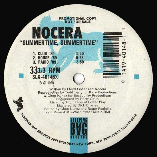 "Nocera - Summertime, Summertime ('89 Remix) 12"" Sleeping Bag Records SLX-40148X"