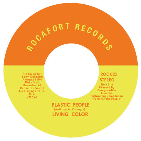 Living Color ‎– Plastic People Label: Rocafort Records ‎– ROC 025