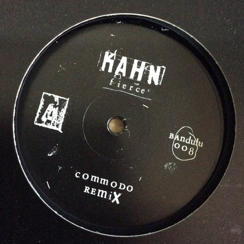 "Kahn / Commodo ‎– Fierce / S Is For Snakes 12"" Repress Bandulu Records ‎– BANDULU008"