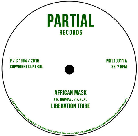 "Liberation Tribe, Paul Fox - African Mask / Writing on the Wall 10"" Partial Records ‎– PRTL 10011"