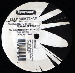 "Deep Substance - Waaay! 12"" Renegade Records NYC REN 260"
