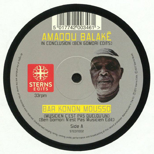 "Amadou Balake ‎– In Conclusion 12"" Sterns Edits ‎– STEDIT002"