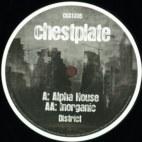 "District - Alpha House / Inorganic 12"" Chestplate CHST035"