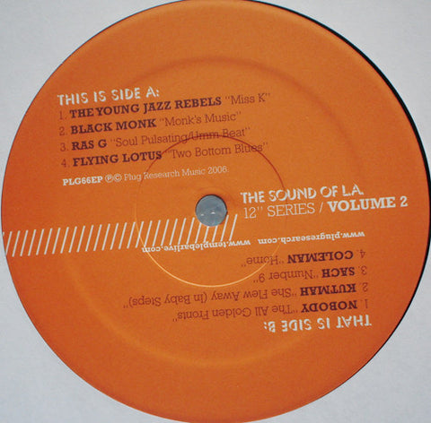"Various ‎– The Sound Of LA Volume 2 12"" Plug Research ‎– PLG66EP"