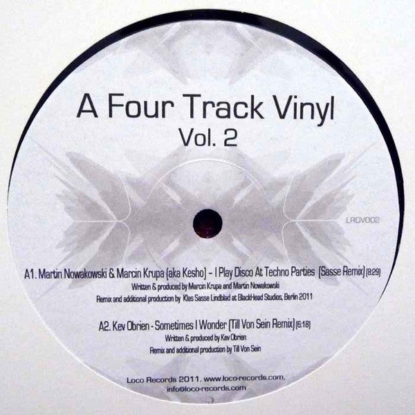 "Various - A Four Track Vinyl Volume 2 12"" Loco Records LRDV002"