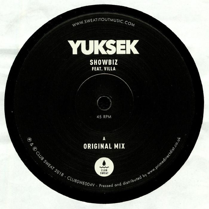 Yuksek, Villa ‎– Showbiz - Club Sweat ‎– CLUBSWE004V