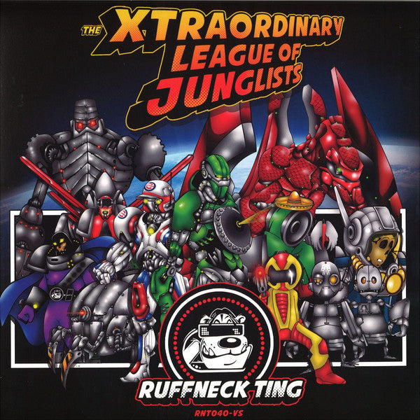 "Various ‎– The Xtraordinary League Of Junglists 2x12"" RuffNeck Ting Records ‎– RNT040VS"