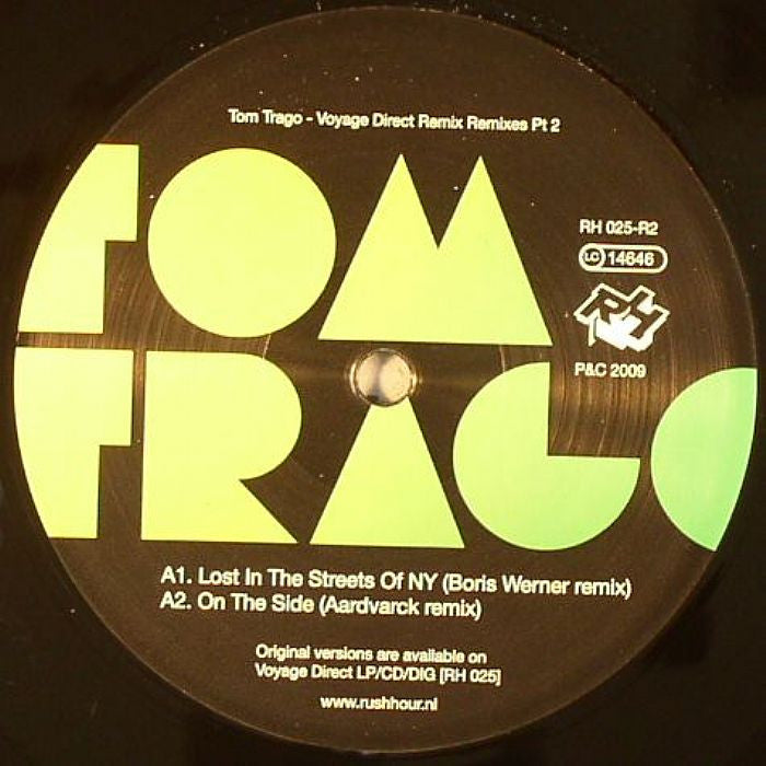 "Tom Trago - Voyage Direct Remixes Part 2 12"" Rush Hour Recordings RH 025-R2"
