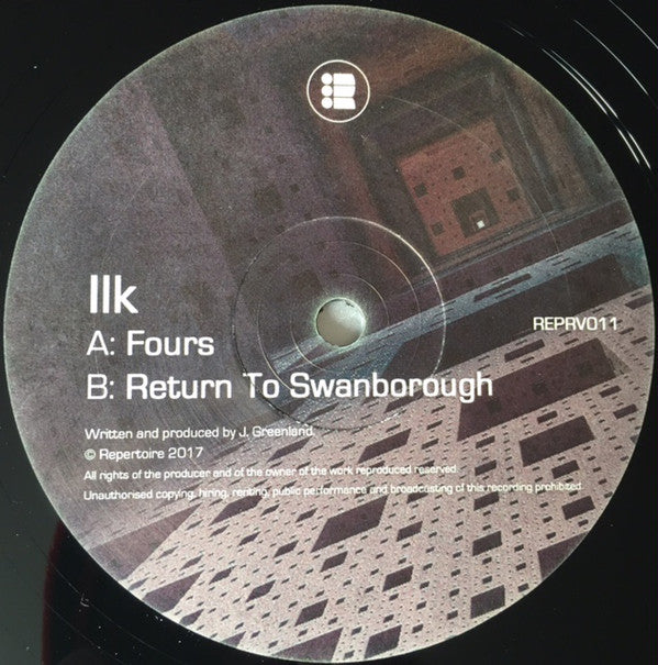 Ilk - Fours / Return To Swanborough - Repertoire ‎– REPRV011