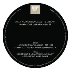 West Norwood Cassette Library ‎– Hardcore Librarianism EP - Sneaker Social Club ‎– SNKR010
