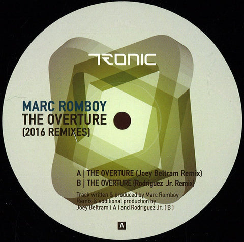 "Marc Romboy ‎– The Overture (2016 Remixes) 12"" Tronic ‎– TR105V"