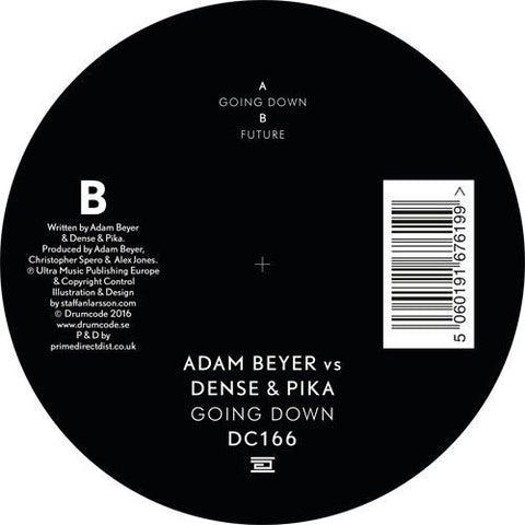"Adam Beyer Vs Dense & Pika - Going Down 12"" Drumcode ‎– DC166"