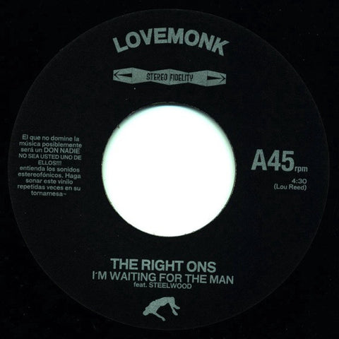 "The Right Ons ‎– I'm Waiting For The Man 7"" Lovemonk ‎– LMNKV28"