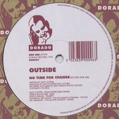 "Outside - No Time For Change 12"" Dorado DOR009"