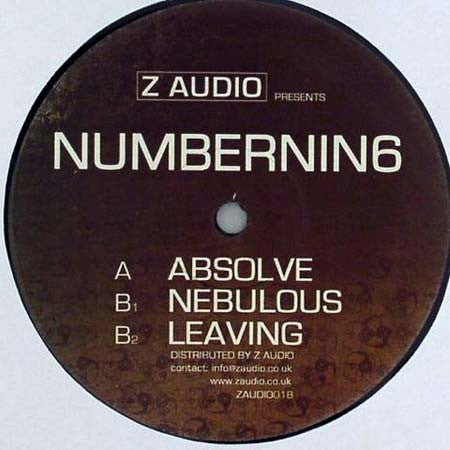 "NumberNin6 - Absolve / Nebulous / Leaving 12"" Z Audio ZAUDIO018"