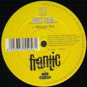 "E R - The Wok Dam EP 12"" Frantic Music FRANTIC 005"