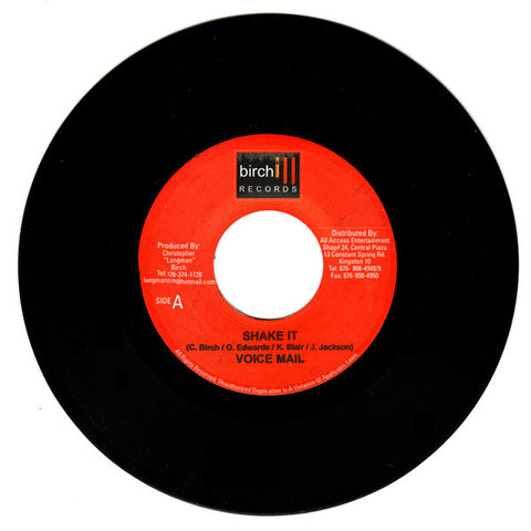 "Voicemail - Shake It 7"" 002LIMBO Birchill Records"