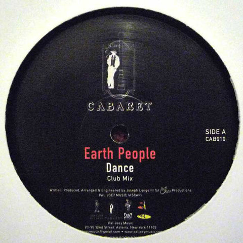"Earth People ‎– Dance 12"" Cabaret ‎– CAB010"