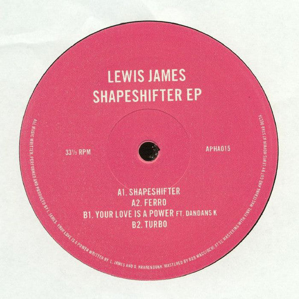 Lewis James - Shapeshifter EP - Astrophonica ‎– APHA015