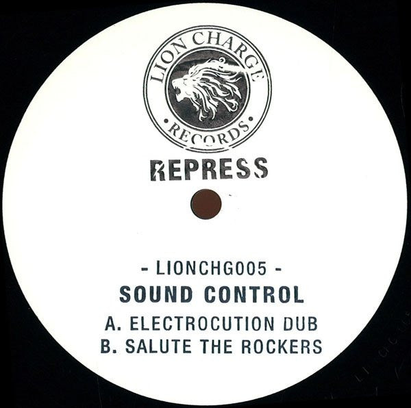 "Sound Control - Electrocution Dub 12"" Repress Lion Charge LIONCHG005"