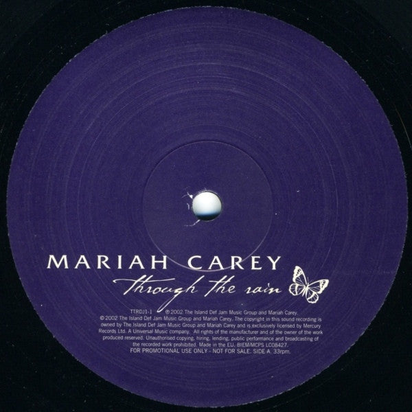 "Mariah Carey - Through The Rain 2x12"" Island Def Jam Music Group TTRDJ1"