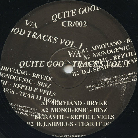 "Various ‎– Quite Good Tracks Volume I 12"" CESTRAW ‎– CR002"