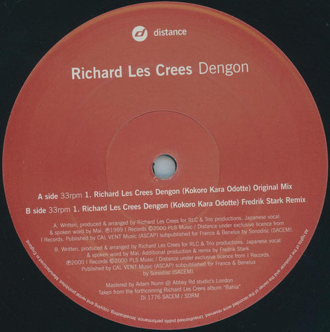 Richard Les Crees ‎– Dengon - Distance ‎– Di1776