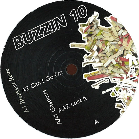 "Buzzin 10 - Bleakest Rave 12"" Well Rounded Records ‎– WRND018"