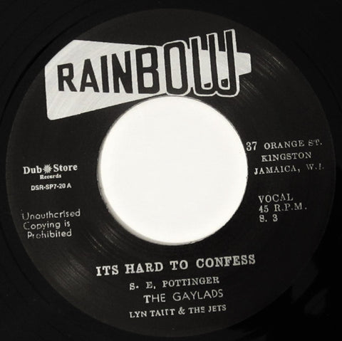 The Gaylads, Lyn Taitt & The Jets ‎– It's Hard To Confess - Rainbow, Dub Store Records ‎– DSR-SP7-20