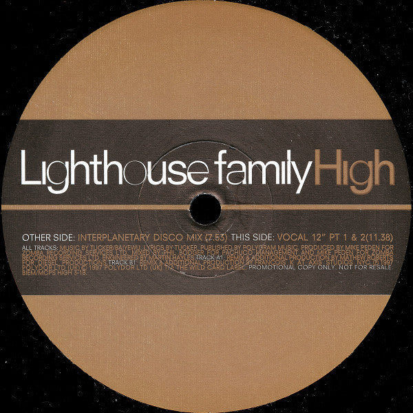 "Lighthouse Family - High 2x12"", Promo Polydor HIGH 3"