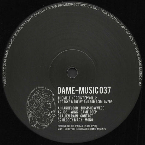 Various ‎– The Melting Point EP Volume 2 - Dame-Music DAME-MUSIC037, DAME-037