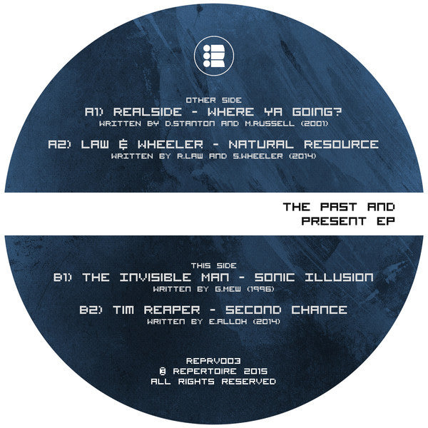 "Various ‎– The Past And Present EP 12"" Repertoire ‎– REPRV003"