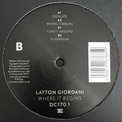 Layton Giordani ‎– Where It Begins - Drumcode ‎– DC170.1