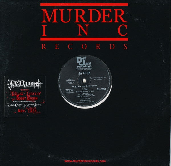 "Ja Rule - Thug Lovin' 12"" Def Jam Recordings DEFR, Murder Inc Records DEFR 15717-1"