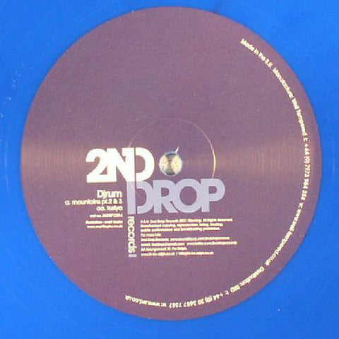 DjRum ‎– Mountains EP (Part 2) - 2nd Drop Records ‎– 2NDRP12014 REPRESS Blue Vinyl