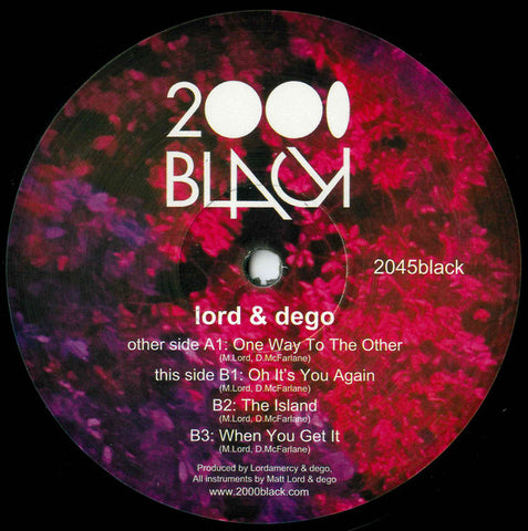 Lord & Dego ‎– One Way To The Other -  2000 Black ‎– 2045Black