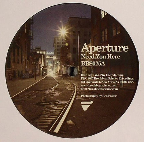 "Aperture - Need You Here / Sleeping Giant 12"" Breakbeat Science Recordings BBS025"