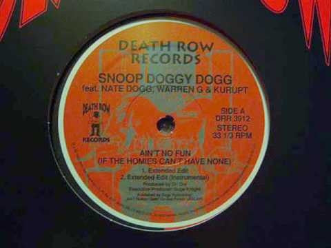 "Snoop Doggy Dogg - Ain't No Fun 12"" Death Row Records DRR 3912"