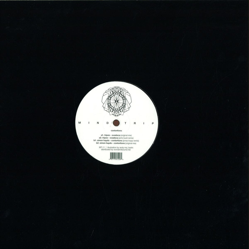 "Tripeo, Simon Haydo ‎– Contortions Remixes 12"" MindTrip Music ‎– MT 11"