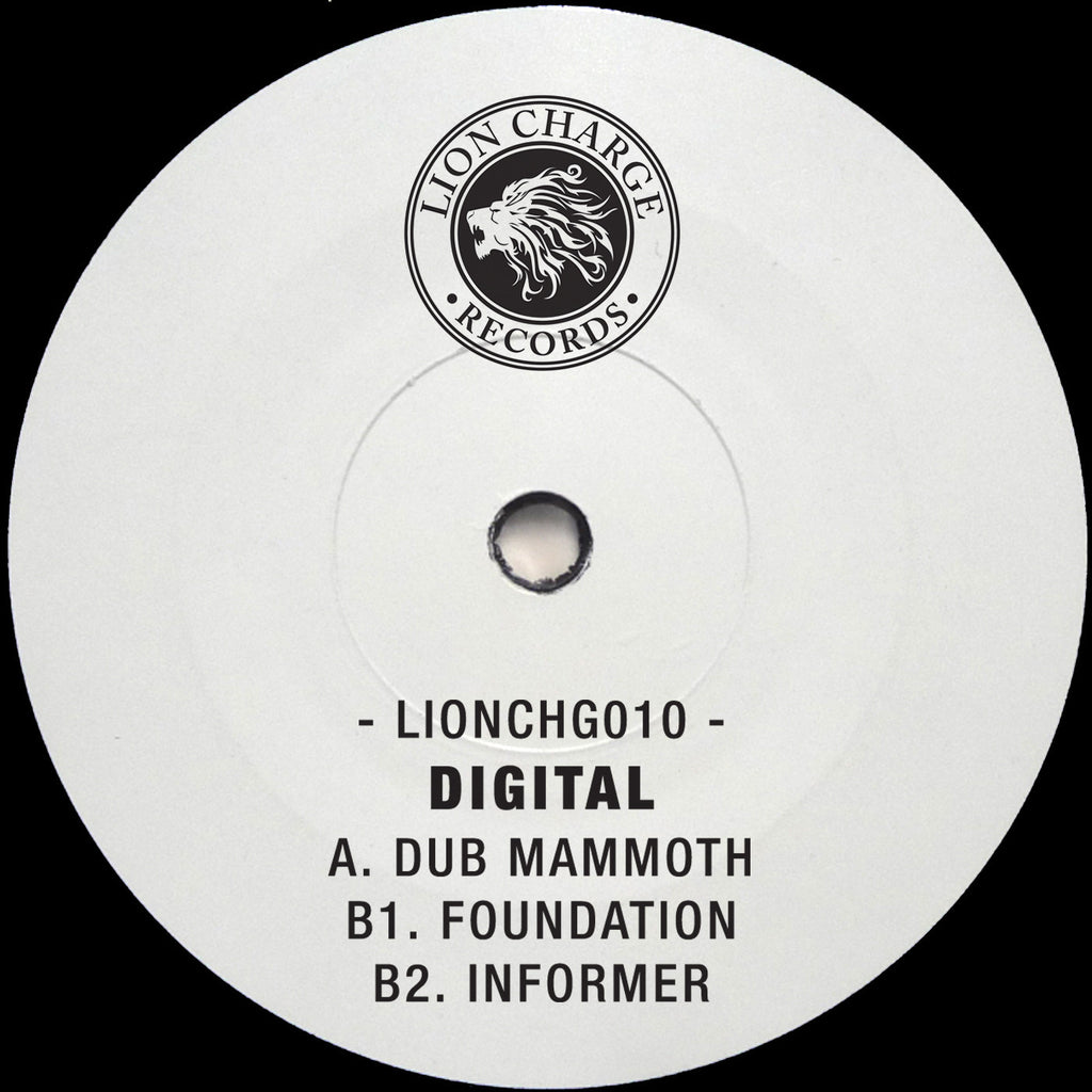 "Digital - Dub Mammoth EP 12"" Lion Charge Records LIONCHG010"