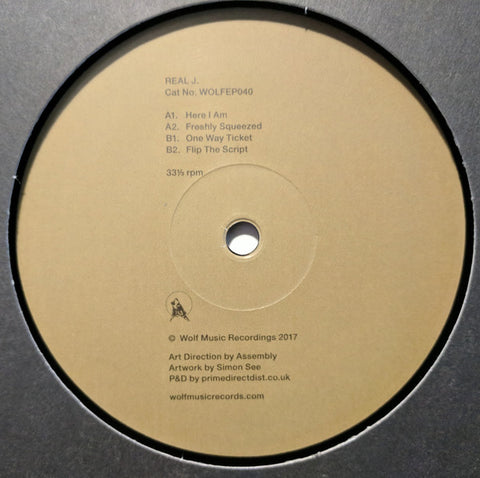 "Real J ‎– Wolf EP 40 12"" Wolf Music Recordings ‎– WOLFEP040"