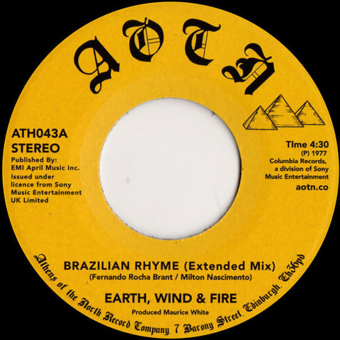 "Earth, Wind & Fire ‎– Brazilian Rhyme (Extended Mix) 7"" Athens Of The North ‎– ATH043"