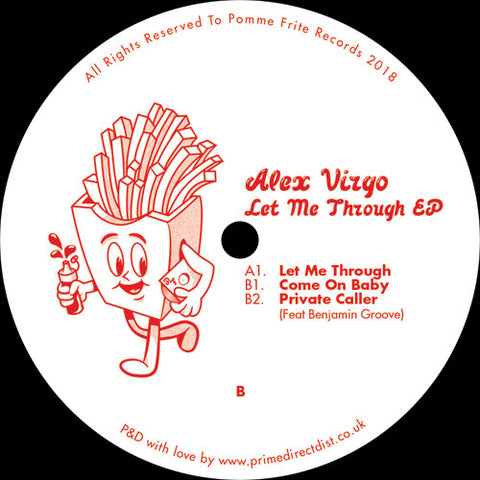 Alex Virgo ‎– Let Me Through EP - Pomme Frite ‎– PFRITE001