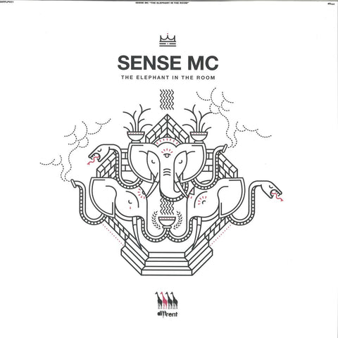 "Sense MC ‎– The Elephant In The Room 12"" Diffrent Music ‎– DIFFLP001"